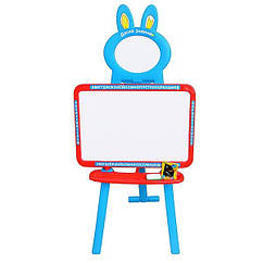 Детский мольберт Limo Toy 0703 UK-ENG с российским, украинским и английским алфавитом Красно-синий