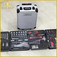 186 шт. Набор ручных профессиональных универсальных инструментов для дома и авто Top  Kitchen в чемодане