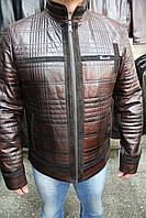 Куртка кожаная мужская A-01/F.ARIS Коричневый