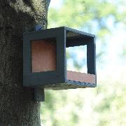 Кормушка для птиц из шпона 180х180х200мм, антрацит-каштан(VM32F23)