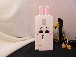 Объемный 3D силиконовый чехол для Samsung Note 4 Galaxy N910C Кролик