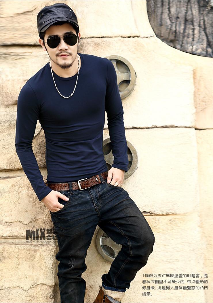 Мужская футболка длинный рукав 2 цвета