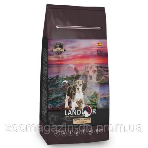 LANDOR PUPPY ALL BREED DUCK & RICE Ландор для щенков всех пород с уткой и рисом, 15 кг