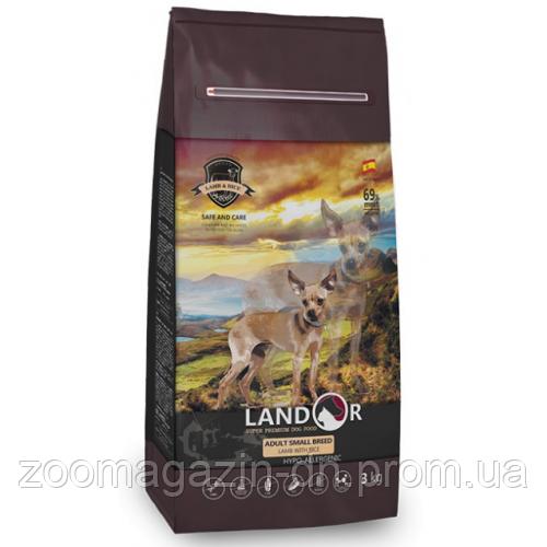 LANDOR SMALL BREED LAMB & RICE Ландор для взрослых собак мелких пород с ягненком и рисом, 15 кг