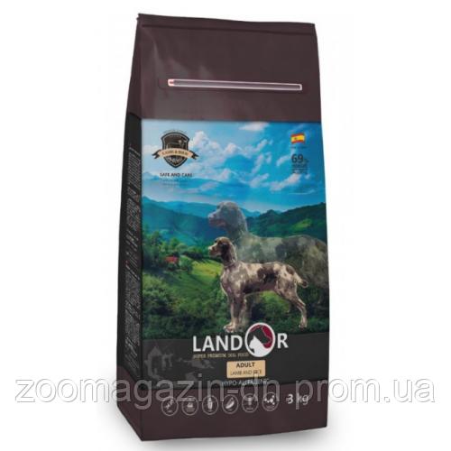 LANDOR ADULT ALL BREED LAMB & RICE для взрослых собак всех пород с ягненком и рисом, 3 кг