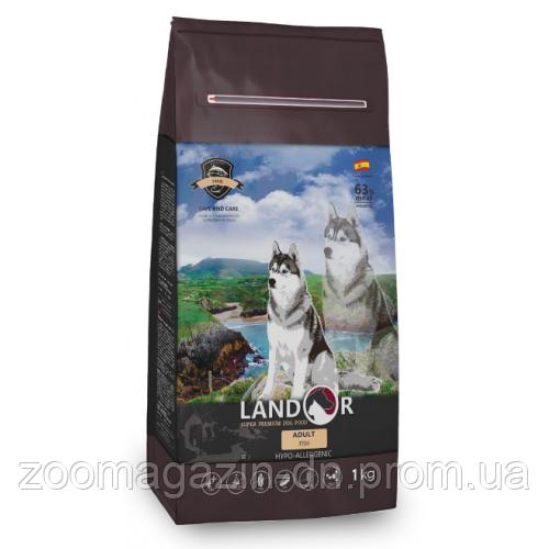 LANDOR ADULT ALL BREED FISH & RICE для взрослых собак всех пород с рыбой и рисом, 1 кг