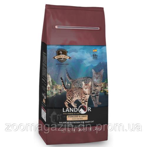 LANDOR STERILIZED & LIGHT DUCK & RICE Ландор для стерилизованных кошек с уткой и рисом, 2 кг