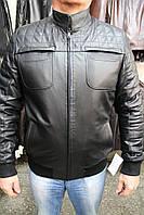 Куртка кожаная мужская 072 черный