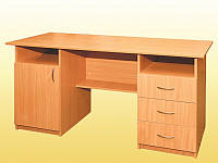 Стол письменный, 1-дверный с тремя ящиками, 1500х600х750 мм.