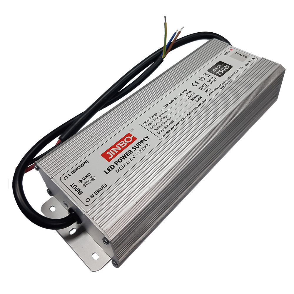 Блок питания JLV-24250KA 24вольт 250 Вт герметичный IP67 JINBO 13732о