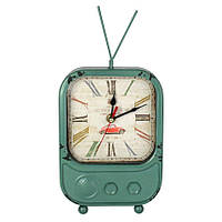 Настольные Часы Антик TV Металл Зелёный 20804, КОД: 1616384