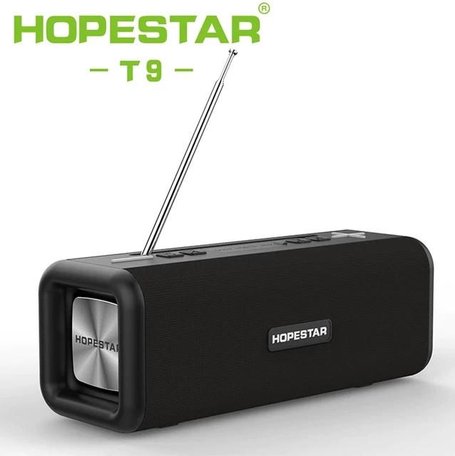 Беспроводная колонка Bluetooth T9 Hopestar, недорогая портативная колонка с микрофоном, USB и карта памяти
