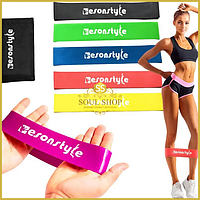 Набор Резинок Esonstyle 5 штук в удобном мешочке. Резинки для фитнеса, спорта, эспандер лента