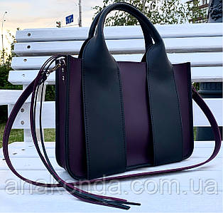 686 Натуральная кожа Сумка женская фиолетовая кожаная черная женская сумка из натуральной кожи баклажановая