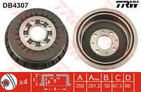 Барабан тормозной задний на ВАЗ 2110,2111,2112 , 2108, 2109 (пр-во TRW DB4307)
