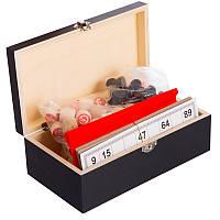 Лото настольная игра в деревянной коробке W9903, фото 1