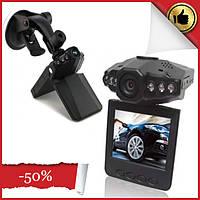 Автомобильный видеорегистратор с разъемом для микро SD, дисплеем 2.5 дюйма и поворотным экраном 198 HD DVR LCD