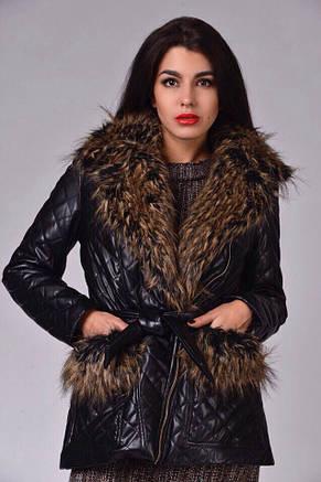 Женская куртка экокожа на синтепоне , фото 2
