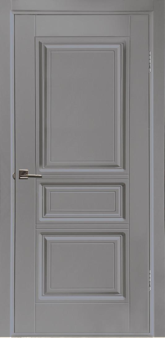 Межкомнатная дверь Вена серая эмаль ПГ