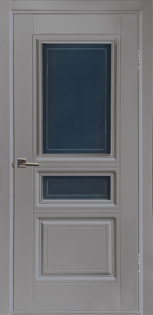 Межкомнатная дверь Вена серая эмаль ПО