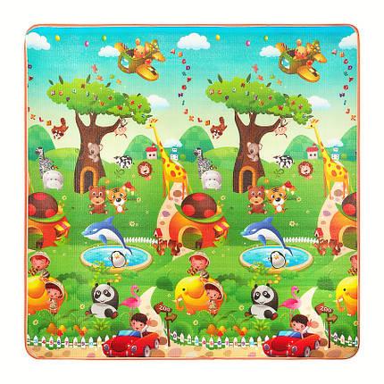Розвиваючий дитячий килимок двосторонній 4FIZJO KIDS 180 x 180 x 1 см 4FJ0164, фото 2