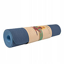 Коврик (мат) для йоги та фітнесу Springos TPE 6 мм YG0012 Blue/Sky Blue, фото 2