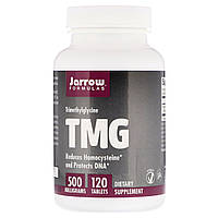 Триметилглицин, TMG (ТМГ), 500 мг, Jarrow Formulas, 120 таблеток