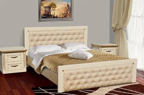 Двоспальне ліжко МІКС-Меблі Рів'єра 180*190 Слонова кістка (72198), фото 2