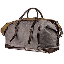 Вместительная дорожная сумка canvas Vintage 20131 Светло-серая