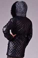 Женская куртка стёганная экокожа на синтепоне , фото 3