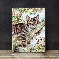 """Набор для вышивания крестиком """"Майский кот"""" 40х50 см"""