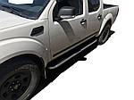 Nissan Navara 2006-2015 рр. Бічні пороги Tayga (2 шт., алюміній)