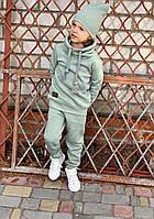 Детский спортивный костюм с воротником хомут (мята) 80-86 см Mimi Book