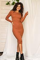 Спокусливе облягаючу сукню M. B. 21 - коричневий колір, L/XL (є розміри), фото 1
