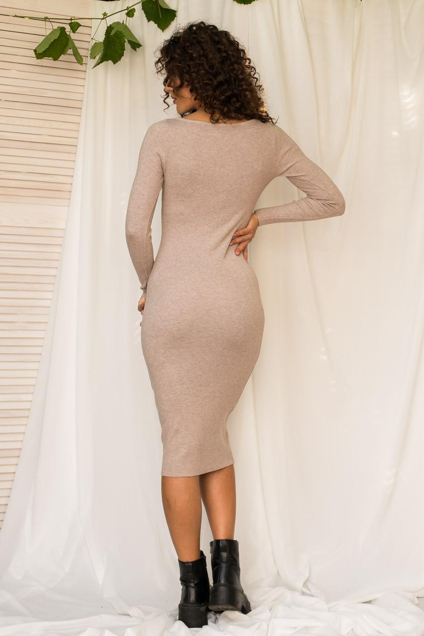 Соблазнительное облегающее платье M.B.21 - кофейный цвет, S/M (есть размеры)