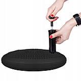 Балансировочная подушка (сенсомоторная) массажная Springos PRO FA0084 черная. Балансировочный диск, фото 2