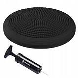 Балансировочная подушка (сенсомоторная) массажная Springos PRO FA0084 черная. Балансировочный диск, фото 3