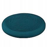 Балансировочная подушка (сенсомоторная) массажная Springos PRO FA0083 темно синяя. Диск для баланса, фото 4
