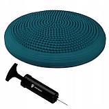 Балансировочная подушка (сенсомоторная) массажная Springos PRO FA0083 темно синяя. Диск для баланса, фото 9