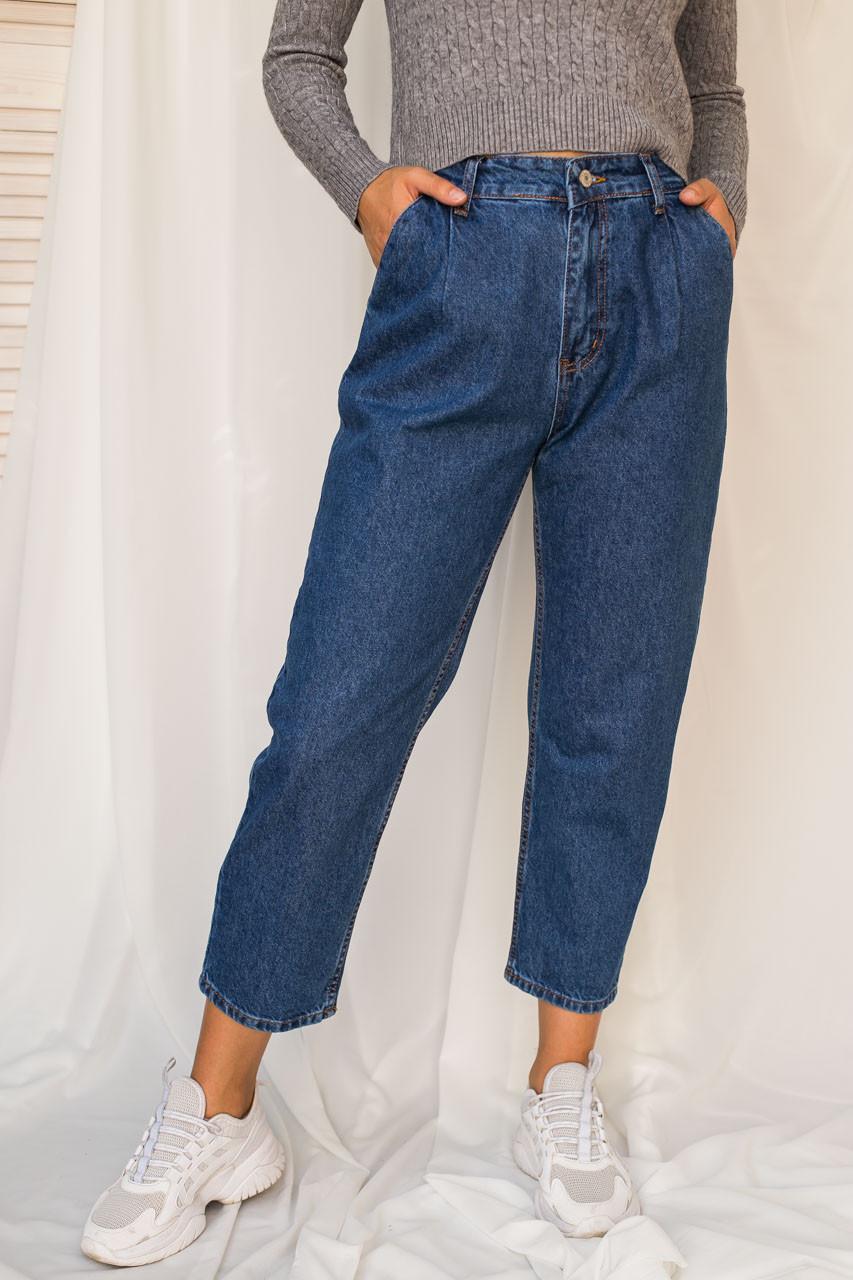 Джинси банани з защипами LUREX - колір джинс, 28р (є розміри)