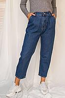 Джинси банани з защипами LUREX - колір джинс, 28р (є розміри), фото 1
