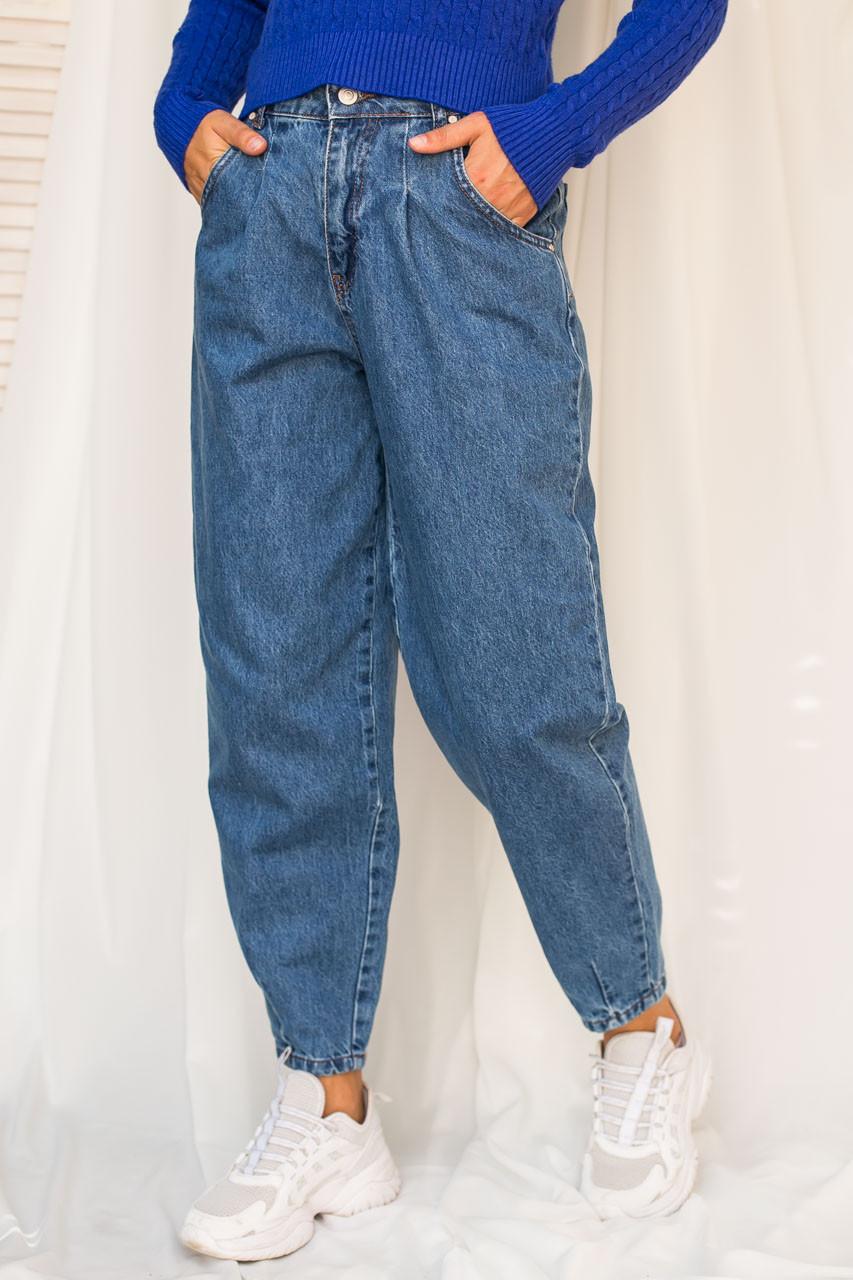 Джинсы бананы с высокой талией LUREX - джинс цвет, 29р (есть размеры)