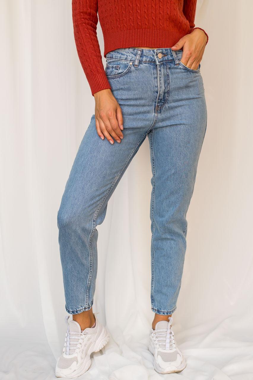 Классические mom джинсы  Crep - голубой цвет, 30р (есть размеры)