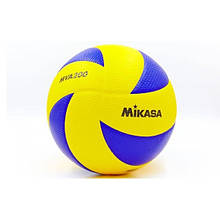 Мяч волейбольный Клееный PU MIKASA VM-42 (PU, №5, 5 сл., клееный)