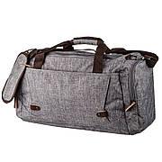 Дорожная сумка текстильная Vintage 20137 Серая