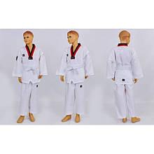 Добок кимоно для тхэквондо Mooto (хлопок 35%, полиэстер 65%, р-р -6 (110-160см), 240 г на м2) KT-10