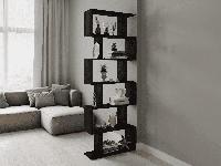 Стеллаж для книг и цветов, для дома и офиса (венгетёмный)