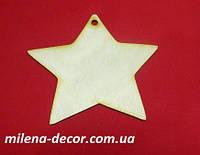 """Новогодняя подвеска для декупажа """"Звезда большая"""" 14*13см (фанера 4мм)"""