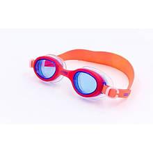 Очки для плавания детские BARBIE UNO FW11 PLUS OK-53 (поликарбонат, TPR, силикон, красные)