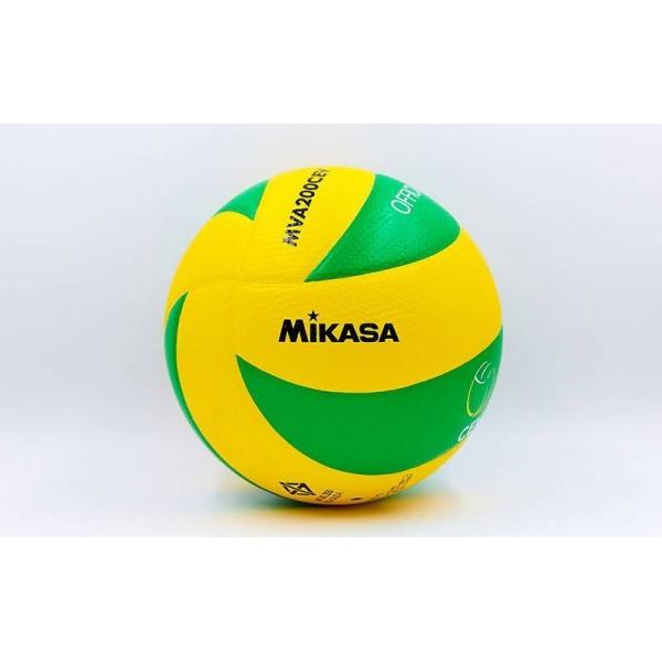 Мяч волейбольный Клееный PU MIKASA (PU, №5, 5 сл.) VM-63